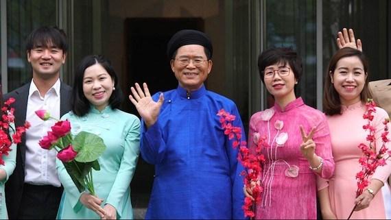 韩国驻越大使通过越文音乐视频传递美好祝愿 hinh anh 1