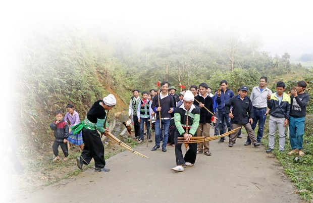 安沛省文安县纳侯乡蒙族人的森林祭祀仪式 hinh anh 2