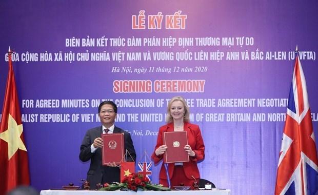 越南与英国自由贸易协定将于12月31日23时正式生效 hinh anh 1