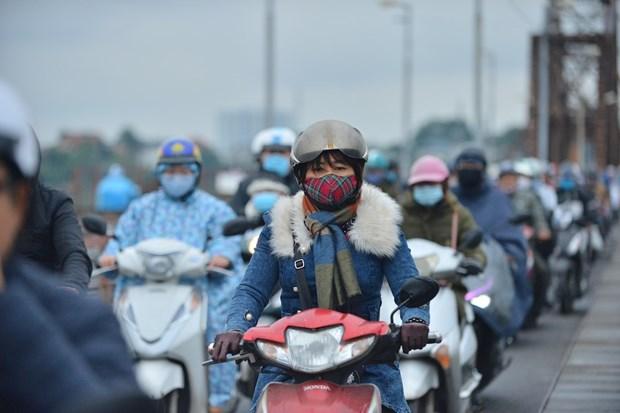 受强冷空气影响越南东北部地区各省市的温度大幅下降 hinh anh 2