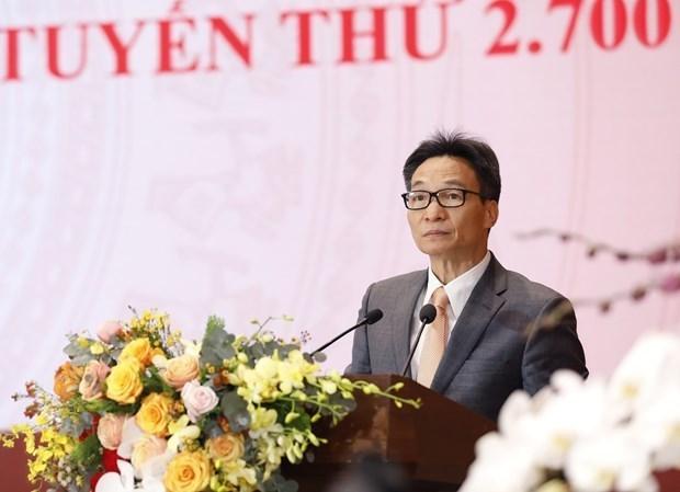 政府副总理武德儋:加快国家重要数据库建设工作 hinh anh 1
