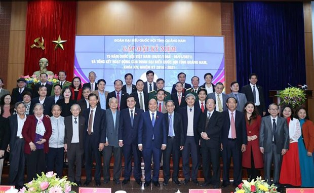 政府总理阮春福出席越南国会第一个大选日75周年庆典 hinh anh 1