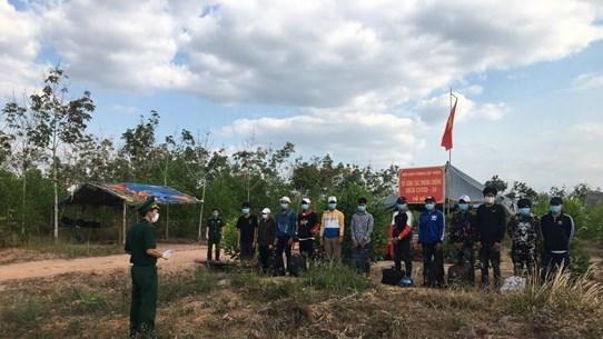 平阳省发现13名非法入境的外国人 hinh anh 1