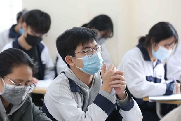 新冠肺炎疫情:河内市学生自3月2日起返校上课 hinh anh 1
