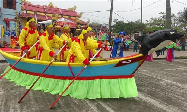 越南广平省景阳沿海村的求鱼节热闹开幕 hinh anh 2