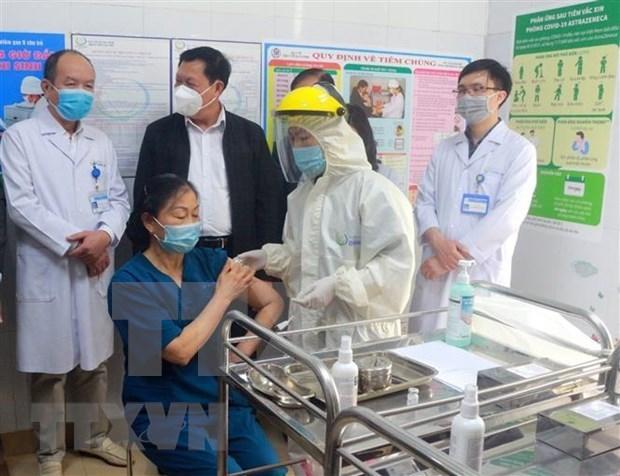 越南全国8个省市已完成首批新冠疫苗接种工作 hinh anh 1