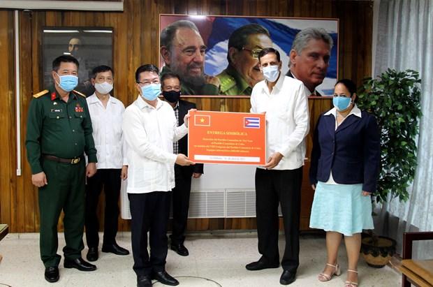 越南共产党致贺电、贺函和贺礼祝贺古巴共产党第八次代表大会成功召开 hinh anh 1