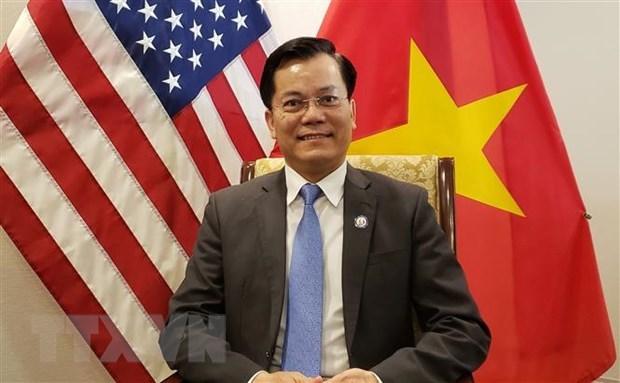 越南驻美大使何金玉出席美国印太司令就职仪式 hinh anh 1