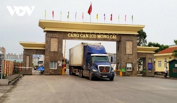 广宁省芒街口岸为农产品出口提供最便利条件 hinh anh 1