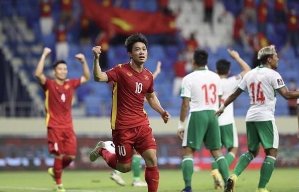 2022年卡塔尔世界杯亚洲区预选赛:越南队以4:0的比分大胜印尼队 hinh anh 1
