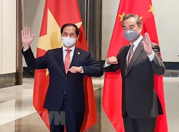 越南与中国两国外长举行会谈 hinh anh 1