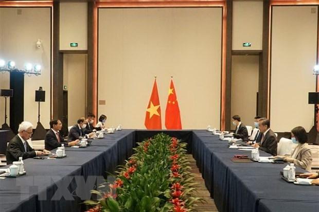 越南与中国两国外长举行会谈 hinh anh 2