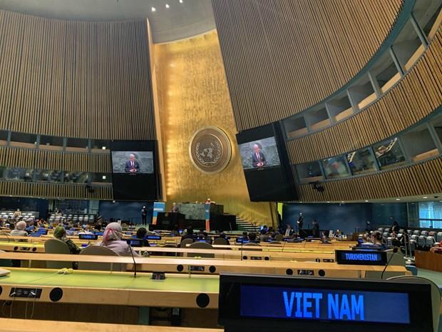 越南在2021年联合国大会艾滋病问题高级别会议上分享经验 hinh anh 2