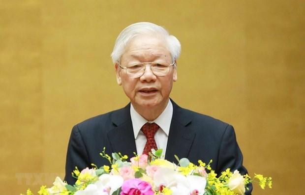阮富仲总书记:胡志明思想、道德和作风是党和人民的无价精神财富 hinh anh 1