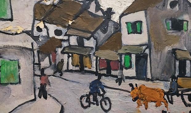 越南著名画家裴春派的画作即将亮相新加坡拍卖会 hinh anh 1