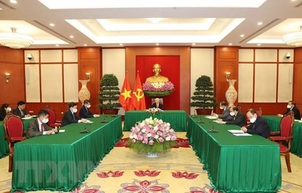 越共中央总书记阮富仲与斯里兰卡总统通电话 hinh anh 1