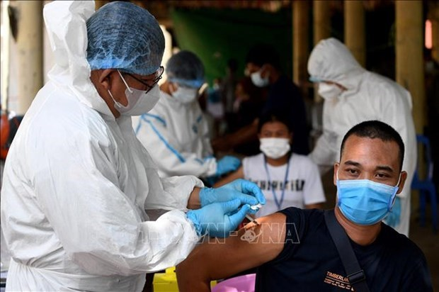 新冠肺炎疫情:柬埔寨提出到今年 11 月实现群体免疫的目标 hinh anh 1