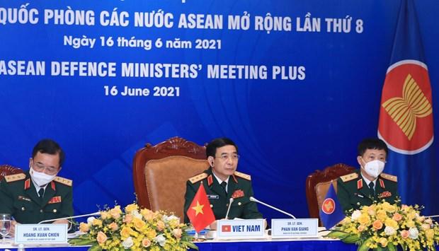 第八届东盟防长扩大会议以视频形式举行 hinh anh 1