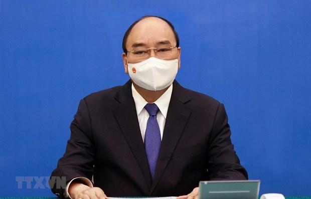 越南国家主席阮春福与联合国秘书长古特雷斯通电话 hinh anh 1