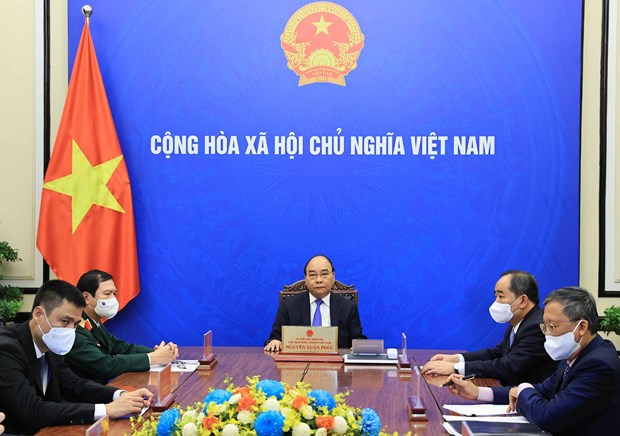 越南国家主席阮春福与联合国秘书长古特雷斯通电话 hinh anh 2