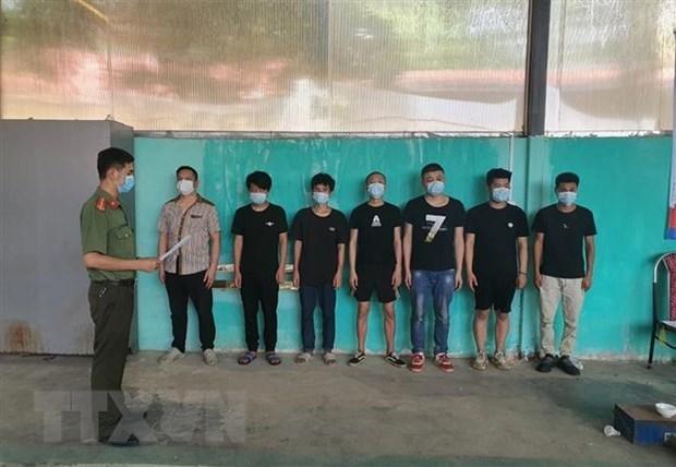 高平省发现多名外籍公民非法入境越南 hinh anh 1