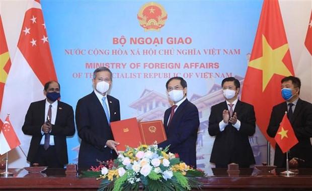 越南与新加坡面向达成有关数字经济的双边协议 hinh anh 2