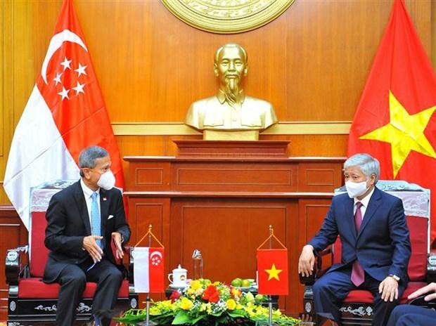 越南政府总理范明政会见新加坡外长 hinh anh 2