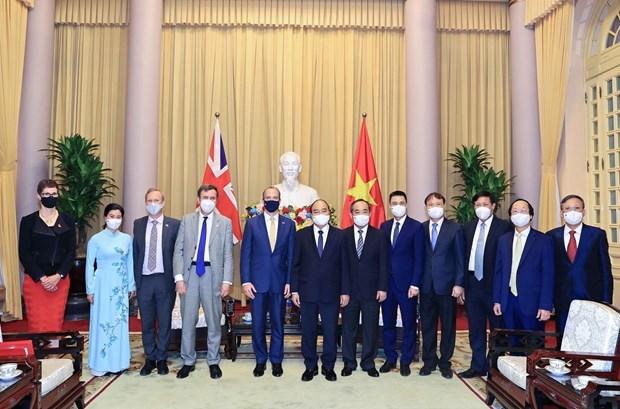 越南国家主席阮春福:推动越南与英国战略伙伴关系深入、高效、务实发展 hinh anh 2