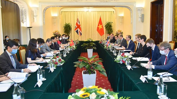 越南外交部长裴青山与英国外交大臣多米尼克·拉布举行会谈 hinh anh 1