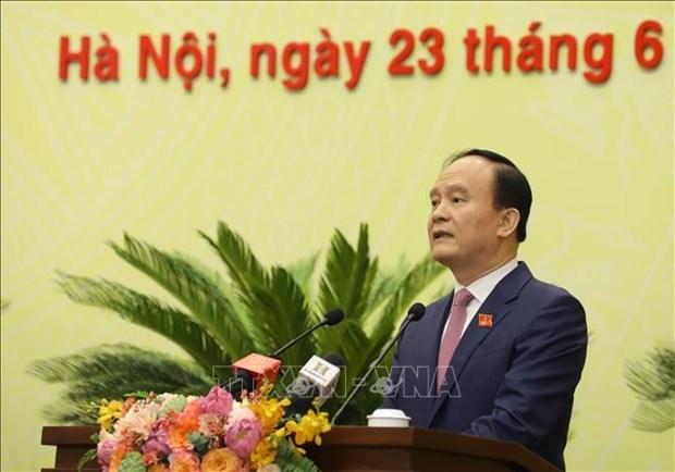 朱玉英和阮玉俊继续当选河内人民委员会主席和人民议会主席 hinh anh 2