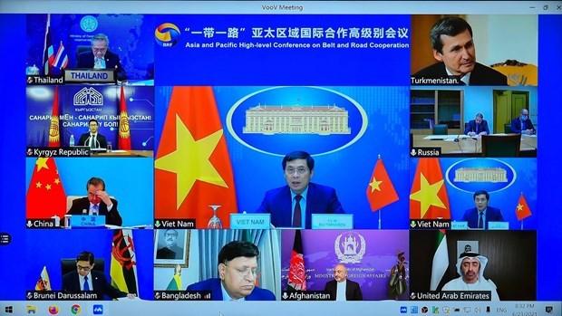 """越南外长裴青山出席""""一带一路""""亚太区域国际合作高级别会议 hinh anh 1"""