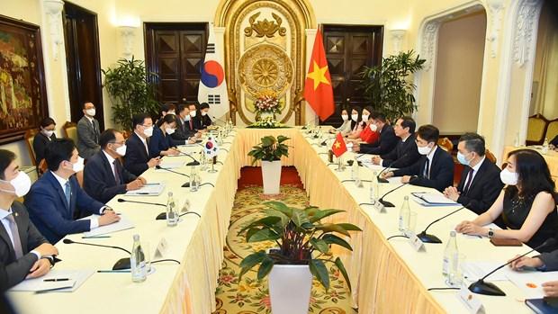 越南外交部长裴青山与韩国外交部长官郑义溶举行会谈 hinh anh 1