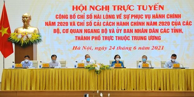 2020年行政改革指数:越南国家银行与广宁省再次位居榜首 hinh anh 1