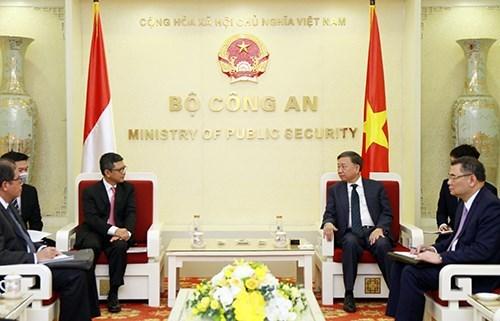 推动越南公安部与印尼有关机构的合作 hinh anh 1