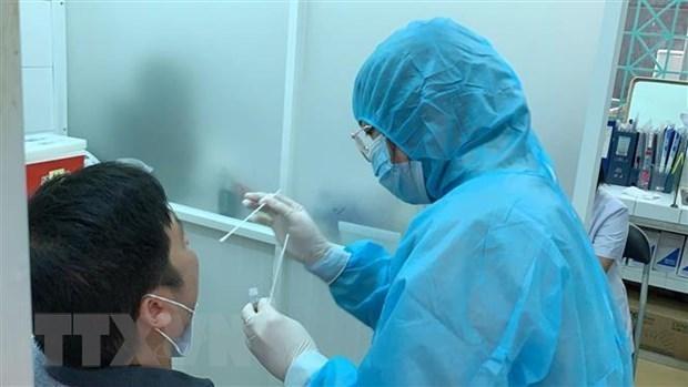 德国援助的19万套新冠病毒检测试剂盒已运抵越南 hinh anh 1