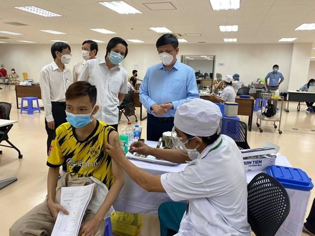截至目前胡志明市新冠疫苗接种人数超过71万 hinh anh 1