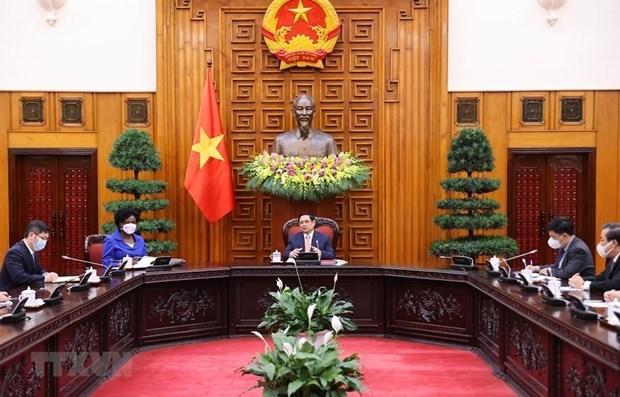 越南政府总理范明政:世行愿与越南携手同行 为越南经济社会的发展作出贡献 hinh anh 1