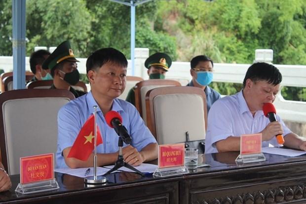 越南广宁省芒街市与中国广西东兴协调 保持防疫成果并推动经济发展 hinh anh 1