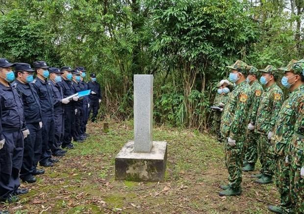 越中两国开展边境联合管控行动 hinh anh 1