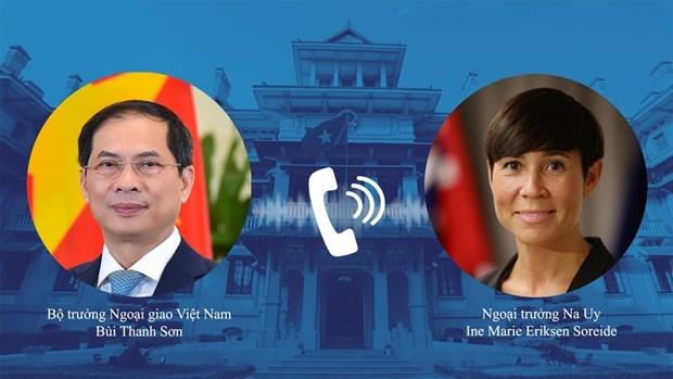 越南外交部部长裴青山与挪威外交大臣瑟雷德通电话 hinh anh 1