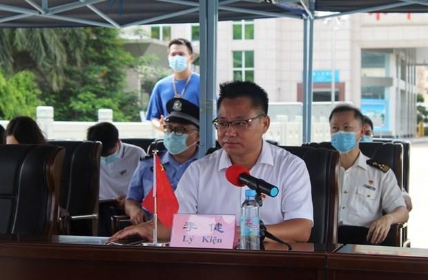 越南广宁省芒街市与中国广西东兴协调 保持防疫成果并推动经济发展 hinh anh 2