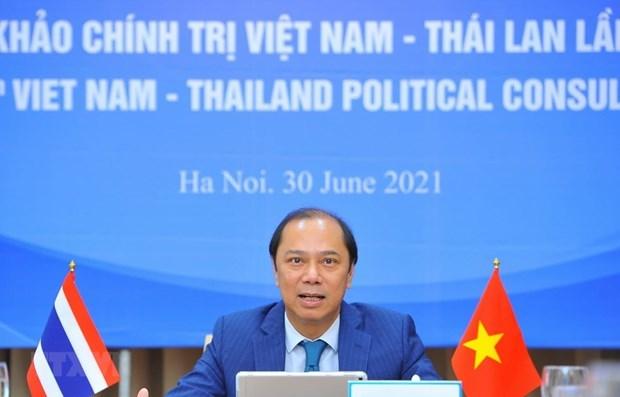 越南与泰国第八次外交部副部长级年度政治磋商以视频方式举行 hinh anh 1