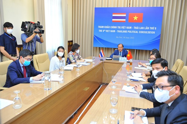 越南与泰国第八次外交部副部长级年度政治磋商以视频方式举行 hinh anh 2
