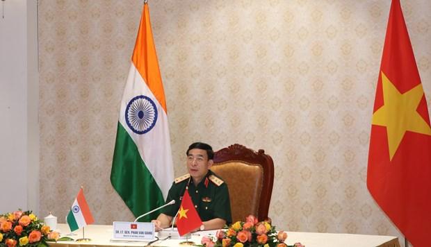 越南与印度国防部部长通电话 hinh anh 1