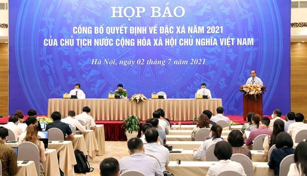 越南国家主席签署发布2021年特赦令 hinh anh 1