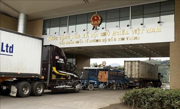 老街口岸货物进出口额同比增长42% hinh anh 1