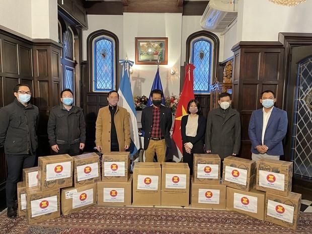 东盟各国捐赠物品支持在阿根廷贫困群众 hinh anh 1
