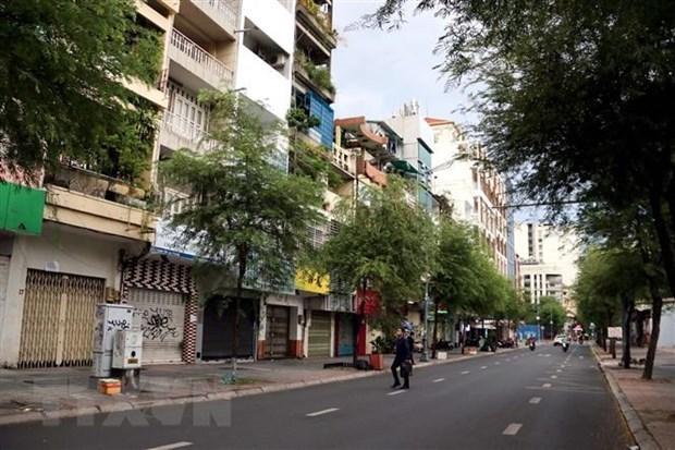 胡志明市自7月9日零时起按照政府总理第16号指示实施社交距离措施 hinh anh 1