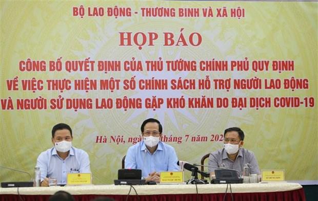 自7 月 8 日起雇员和雇主可获得总额达26 万亿越南盾的救助计划 hinh anh 1