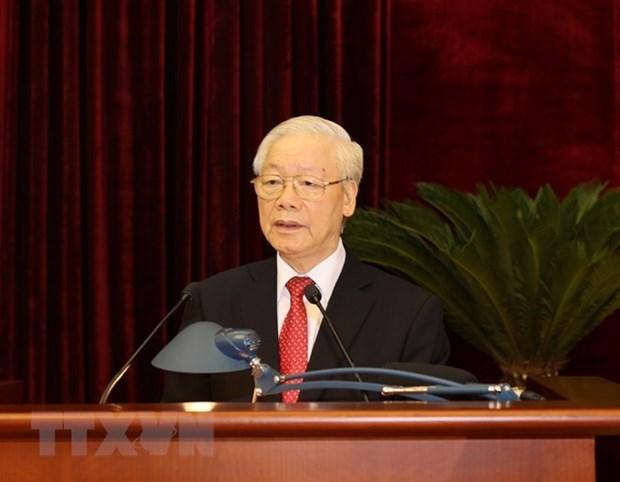 越共第十三届中央委员会第三次全体会议落下帷幕 hinh anh 2